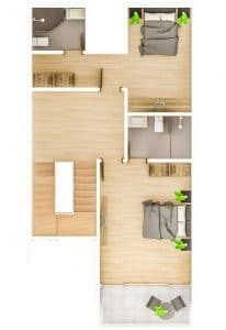 3F 2BR WITH ACCESS TO RD